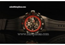 Richard Mille RM 025 Asia Automatic Steel Case with Skeleton Dial and Black Rubber Strap