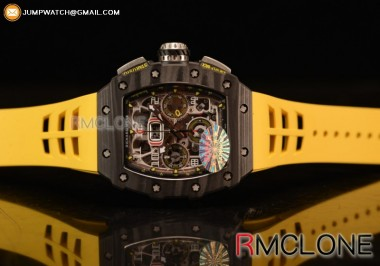 RICHARD MILLE RM011 SKELETON LIMITED EDITION CF/YELLOW