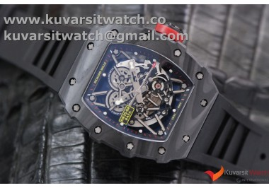 RICHARD MILLE 035-02 RAFAEL NADAL FORGE CARBON TITANIUM CASE. BLACK-RED FROM KVF BEST EDITION MIYOTA8215