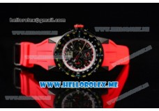Richard Mille RM 60-01 PVD Case with Skeleton Dial and Red Rubber Strap PVD Bezel (EF)