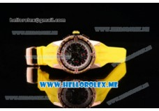 Richard Mille RM 60-01 Rose Gold Case with Skeleton Dial and Yellow Rubber Strap Rose Gold Bezel (EF)