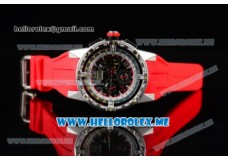 Richard Mille RM 60-01 Steel Case with Skeleton Dial and Red Rubber Strap Dot/Arabic Numeral Markers (EF)
