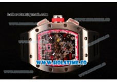 Richard Mille RM 005 FM Steel Case with Skeleton Dial and Red Inner Bezel